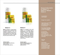Veterinary probiotics Vetom 3 and Vetom 4. General information of Vetom 1.1, Vetom 2, Vetom 3, Vetom 4.
