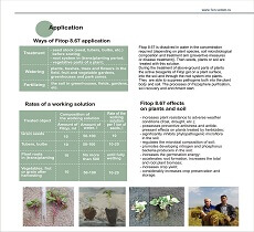Ways of Fitop 8.67 application - treatment, watering, fertilizing. Fitop 8.67 effects on plants and soil